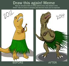Trex Memes - draw it again meme t rex playing a ukulele by defy gravity 42 on