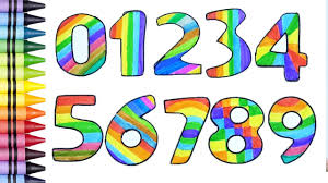 coloring numbers coloring numbers for kids learn colors