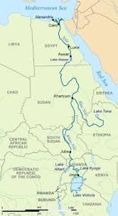 nile river on map nile