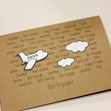 Invitation Card For Farewell Personalised Aeroplane U0027bon Voyage U0027 Goodbye Card Bon Voyage