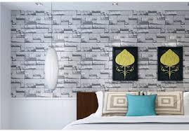 3d Wallpaper Home Decor 10m 3d Brick Stone Natural Color Slate Environmental Non Woven