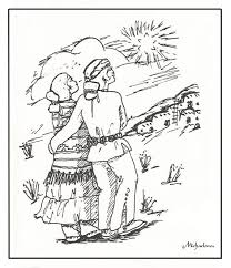 email coloring pages native american couple christmas star
