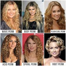root perm before and after perm plain curl perm acid perm