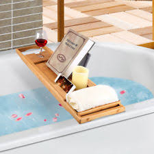 bamboo bath bathtub caddies storage equipment ebay