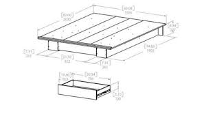 South Shore Full Platform Bed South Shore Holland Full Queen Platform Bed 54 60 U0027 U0027 With Drawer
