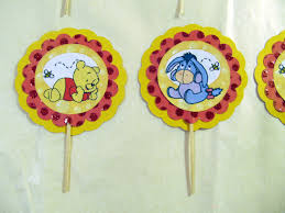 pooh cupcake toppers winnie the pooh cupcake toppers pooh bear