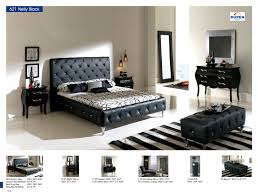 Bedrooms  Bedroom Furniture Modern Bedrooms Nelly Black Modern - Modern white leather bedroom set