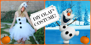 frozen dress for halloween diy olaf frozen halloween costume style by dani youtube