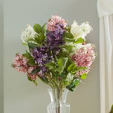 silk flower arrangements glenham lilac silk flower arrangement reviews birch lane