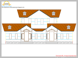 single floor house plan and elevation 1400 sq ft