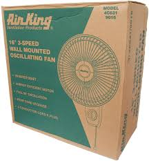 Wall Mounted Oscillating Fans 9016 Air King Wall Mounted Fan In White With Impressive 1710 Cfm