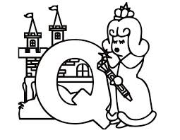 Alphabet Letter Q For Queen Coloring Page For Preschool Kids Coloring Pages Q