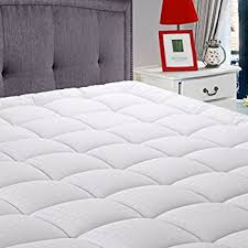 amazon com extra plush mattress pad topper with fitted skirt