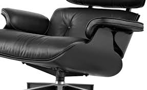 Small Leather Chair And Ottoman Ebony Eames Lounge Chair U0026 Ottoman Hivemodern Com