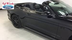 Mustang In Black 2017 Ford Mustang Convertible In Black Youtube