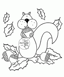 autumn coloring pages free coloring page