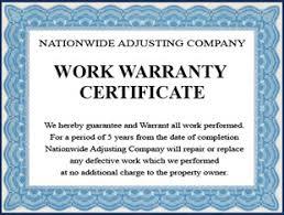 28 certificate of guarantee template winnipeg s 1st choice