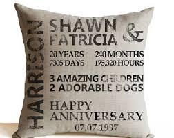 20 year anniversary gift anniversary pillows etsy