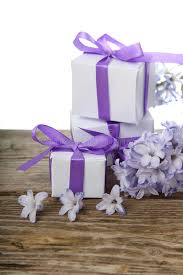 boxes with bows gift boxes with bows and blue hyacinth stock image image of