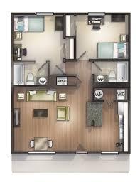 2 bedroom floor plan 1 2 bedroom cus housing in tallahassee fl