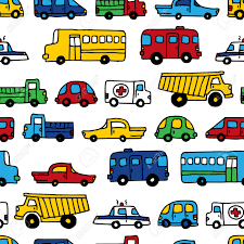 cars wrapping paper seamless pattern of doodles cars vector bright background in