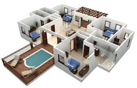 house plans and more 3d 3 bedroom house plans more 3 bedroom floor plans
