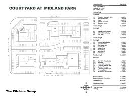 courtyard at midland park site plan u2013 the pilchers group