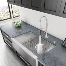 36 stainless steel farmhouse sink vigo industries vg3620c 36 inch single bowl stainless steel
