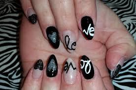 acrylic nails l u0026 black love l nail design youtube