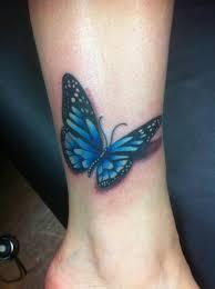 brilliant 3d butterfly on leg tattooshunter com