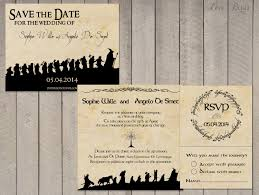 sle rsvp cards wedding invitation set lord of the rings save the date