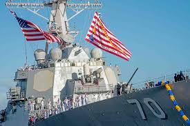 Saipan Flag Zerstörer Us Navy Schiffspost