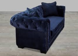 Navy Sleeper Sofa by Navy Velvet Sofa With Nailheads