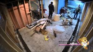 waterproofing a basement in ontario timelapse video youtube