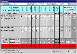 Golf Stat Tracker Spreadsheet Golf League Software Easy Save Cut Tedium Golfsoftware Com