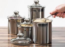 kitchen canister sets stainless steel canister set stainless steel beautiful canisters for