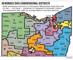 Map Of Bowling Green Ohio by Redrawn Map Puts Toledo In 2 Districts Instead Of 3 The Blade