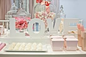 Pink Wedding Candy Buffet by Romantic Pink And White Candy Table Candy Station U0026 Dessert