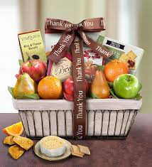 fruit and cheese gift baskets thank you gift basket 1800baskets 93680