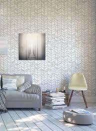 Wallpapers Home Decor Herringbone Handdrawn Wall Stencil Decorative Scandinavian
