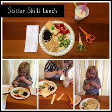 scissor skills lunch left brain craft brain