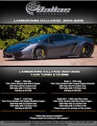 lamborghini gallardo horsepower dallas performance tuning for high performance cars