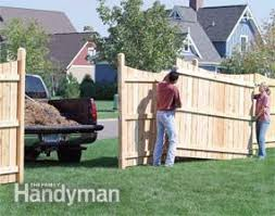 How To Build Backyard Fence How To Build A Fence For Privacy Family Handyman