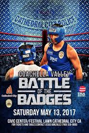 city of riverside halloween events battle of the badges boxing event discover cathedral city