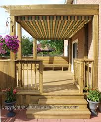 Deck With Pergola by Small Deck Design With Retractable Canopy In Markham Ontario