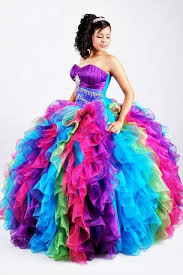 quinceaneras dresses online shop hot sale quinceanera dresses rainbow organza gown