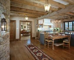 french country homes kitchen rustic with ceiling light traditional