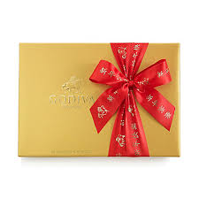 new year box assorted chocolate gold gift box new year ribbon 36 pc