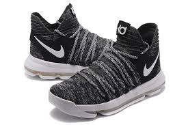 2017 nike kd 10 oreo black white for sale hoop