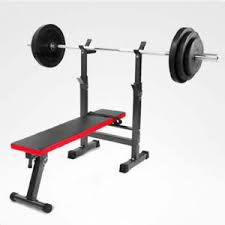 weight and bench set adjustable weight bench set press mid width fitness home exercise
